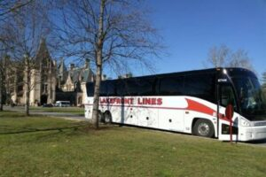 Lakefront Lines Charter Bus In transit